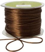 May Arts Ribbon, Brown Satin String