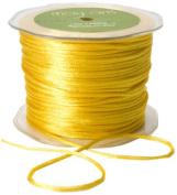 May Arts Ribbon, Yellow Satin String