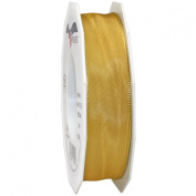 Morex Ribbon French Wired Lyon Ribbon, 2.5cm by 27-Yard Spool, Old Gold