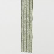 Green Mesh W/striped Knit Ribbon