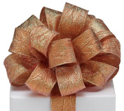 Copper Shimmer Rustic #9 Wired Metallic Ribbon