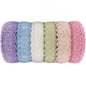 Wrapables Colourful Decorative Lace Tape Collection (set of 6) - GRP6