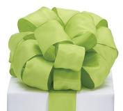 #9 Green Taffeta Wired Ribbon