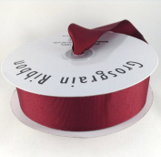 3.8cm Burgundy/Wine Grosgrain Ribbon 50 Yards Spool Solid Colour.
