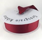 3.8cm Burgundy/Wine Grosgrain Ribbon 50 Yards Spool Solid Colour.