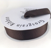 3.8cm Brown Grosgrain Ribbon 50 Yards Spool Solid Colour.