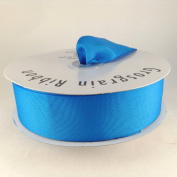 3.8cm Neon Blue Grosgrain Ribbon 50 Yards Spool Solid Colour.