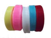 3x Mix Colour 50 Yards 20mm Organza Satin Ribbon Hair Party Decorate Tool Diy