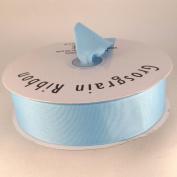 3.8cm Light Blue Grosgrain Ribbon 50 Yards Spool Solid Colour.