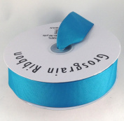 3.8cm Turquoise Grosgrain Ribbon 50 Yards Spool Solid Colour.