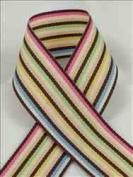 Schiff Ribbons - Grosgrain Multi-Colour Stripe - 1.3cm - Multi-Colour - 100 yds