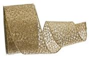 Renaissance 2000 Ribbon, 6.4cm , Sheer Gold