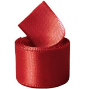 Papilion R07430538025250YD 3.8cm . Single-Face Satin Ribbon 50 Yards - Hot Red
