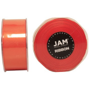 Orange Satin 3.8cm thick x 25 yards Spool of Double Faced Satin Ribbon - Sold individually