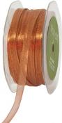 May Arts 0.6cm Wide Ribbon, Metallic Copper