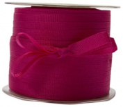 May Arts 1cm Wide Ribbon, Fuchsia Grosgrain
