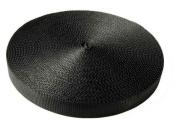 Country Brook Design® 2.5cm Black Tubular Nylon Webbing, 20 Yards