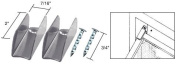 CRL Grey Finish Jiffy Hanger with Nail - Bulk Package