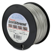 SuperSoftstrand Size 2 - 1,500-Feet Picture Wire Vinyl Coated Stranded Stainless Steel