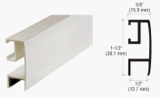 CRL Brite Anodized Rectangular Mirror Frame Extrusion -12 ft Long