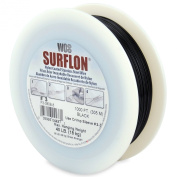 Surflon Size 3 - 40-Pound Break 1000-Feet Crimping Picture Wire Nylon Coated Stainless Steel, Black
