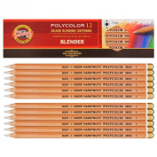 Koh-i-noor Polycolor - 12 Colour Blending and Softening Pencils. 3800