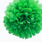 Dress My Cupcake 36cm Kelly Green Tissue Paper Pom Poms, Set of 4 - Christmas Arts Decorations, Christmas Supplies for Decorating