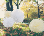 "PomPomSale Brand ""Fairy Princess"" - 6 Tissue Paper Pom Poms - Wedding / Baby Shower / Birthday Party / Nursery Decor"