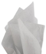 Bags & Bows by Deluxe 11-01-100 Solid Tissue Paper Light Grey - Case of 480