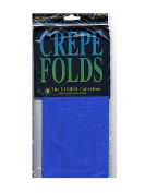 Cindus Crepe Paper Folds royal blue [PACK OF 6 ]