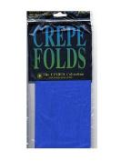 Cindus Crepe Paper Folds royal blue [PACK OF 6 ]
