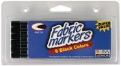Uchida 510-6F Marvy Fine Tip Black Colour Fabric Marker Set