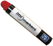 IMC Marks Weather Resistant Lead Free Industrial No. 1x Solid Stick Paint Marker, Red