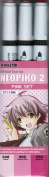Deleter Neopiko-2 Markers (3 Pcs) Pink Set