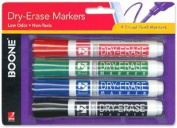 Quartet Boone Dry Erase Markers Assorted, 4-count