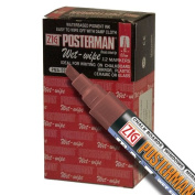 Zig Posterman Wet-Wipe 6mm Burnt Sienna Paint Markers - Box of 12
