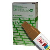 Zig Posterman Waterproof 15mm Brown Paint Markers - Box of 6