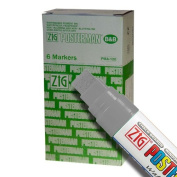 Zig Posterman Waterproof 15mm Silver Paint Markers - Box of 6