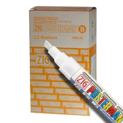 Zig Posterman Waterproof 6mm White Paint Markers - Box of 12