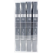 Alpha EF 12 Cool Grey Grafikmarker 12er Set Box Design Marker