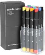 Stylefile Artist Marker box Grafikmarker 12er Pastell