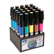 25-Count Tri-Nibbed Basic Permanent Marker Set - Chartpak AD