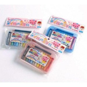12 Oil Pastel Set with Plastic Case and BONUS Pencil - Case Colour May Vary