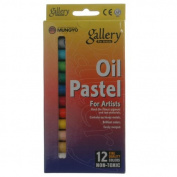Mungyo Gallery Oil Pastels Cardboard Box Set of 12 Standard - Fluorescent Colours