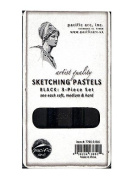 Pacific Arc Sketching Pastels Sets black 3-piece set