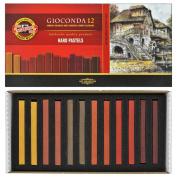 Koh-i-noor Gioconda - 12 Square Hard Pastels - Special Shades. 8122B