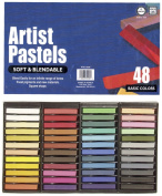 Pro Art Square Artist Pastel Set, 48 Assorted Colours
