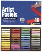 Pro Art Square Artist Pastel Set, 48 Assorted Colours