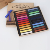 Artists Long Soft Pastels 24 Colours Set AP Non-toxic Square Chalk bright