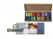 Rembrandt 30 Half Stick Pastel Wood Box Set